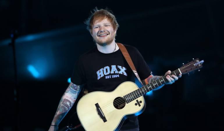 El cantante británico Ed Sheeran.