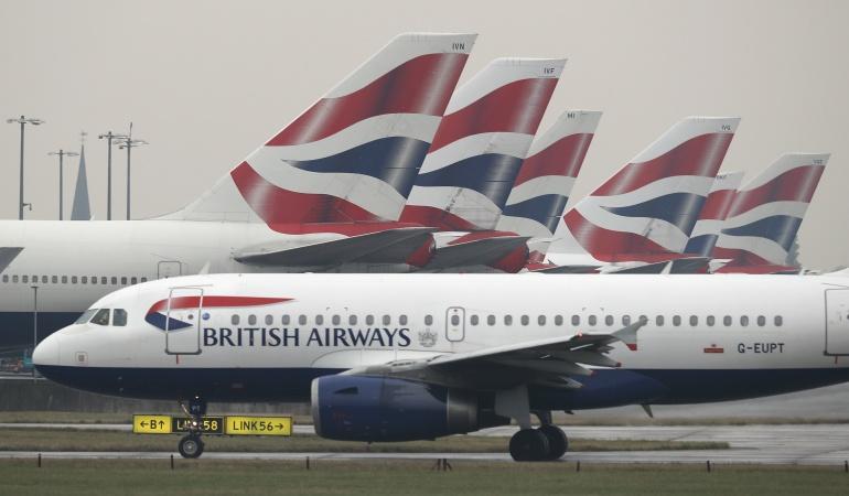 Un vuelo de la compañia British Airways.