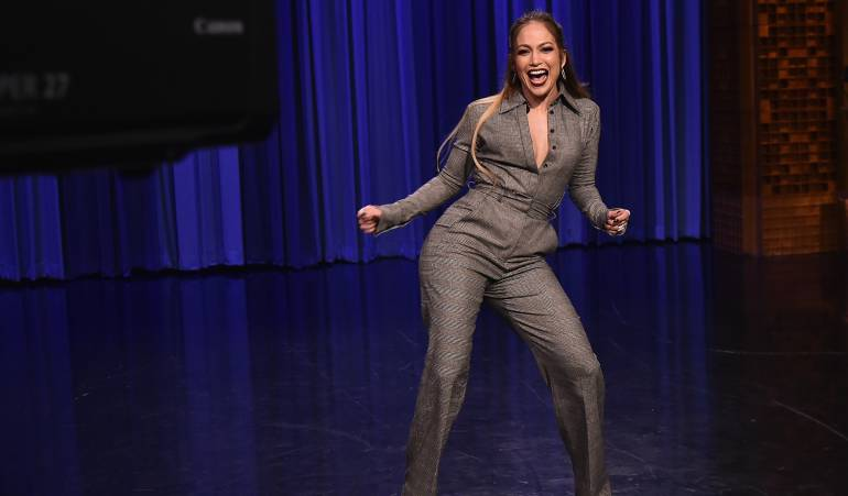 Jennifer López en The Tonight Show Starring Jimmy Fallon