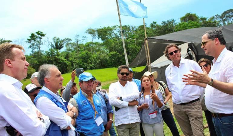 Sergio Jaramillo, alto comisionado de paz acompañó a los delegados en su visita