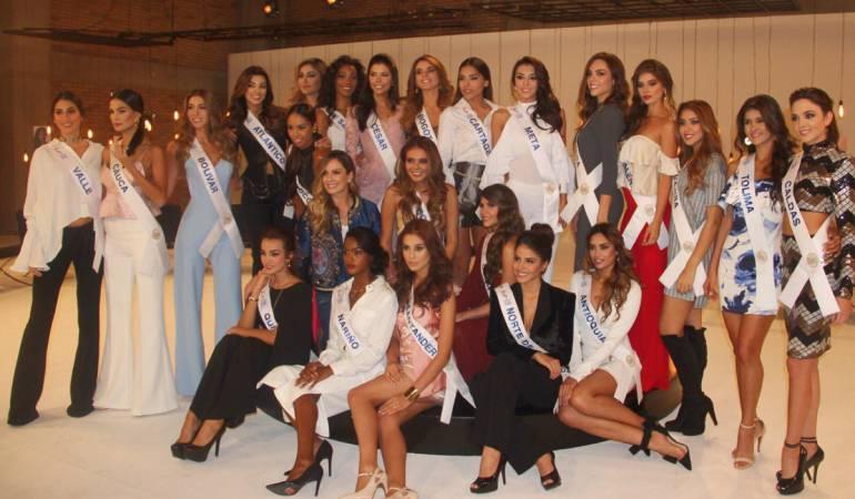 Candidatas a la corona de Señorita Colombia 2017.