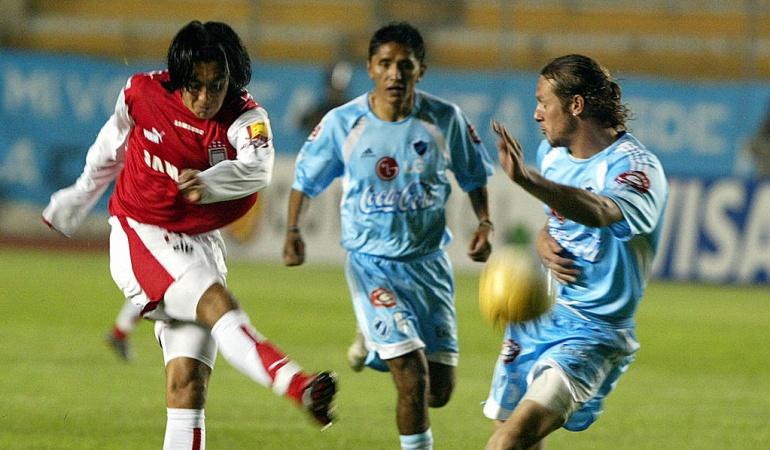 Santa Fe y una deuda en La Paz por Copa Libertadores El conjunto bogotano debuta ante The Strongest el jueves.  @GettyImages