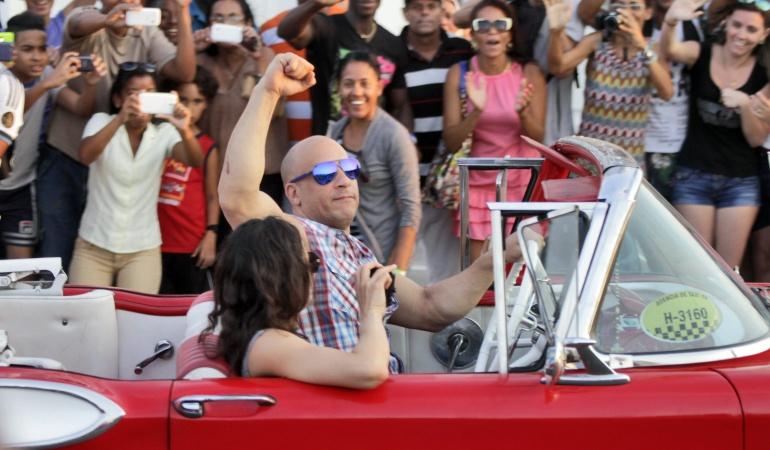 El actor Vin Diesel en el rodaje de la cinta.