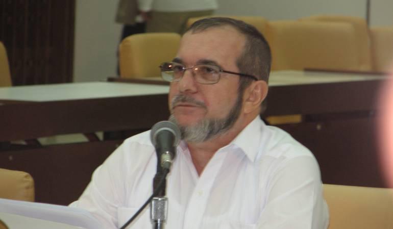 Timochenko, jefe negociador de las Farc.