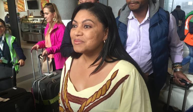 Oneida Pinto, gobernadora del departamento de La Guajira.