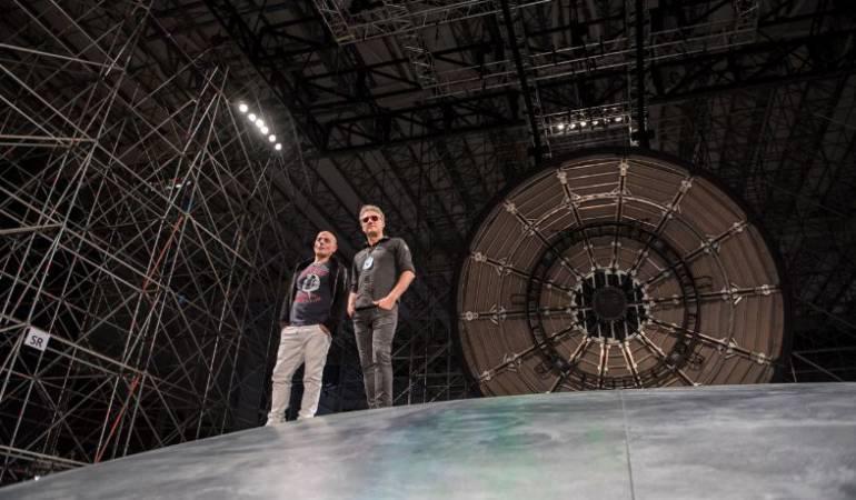Zeta Bosio y Charly Alberti integraban Soda Stereo al lado de Gustavo Cerati. Ambos participaron en el proceso creativo del espectáculo.