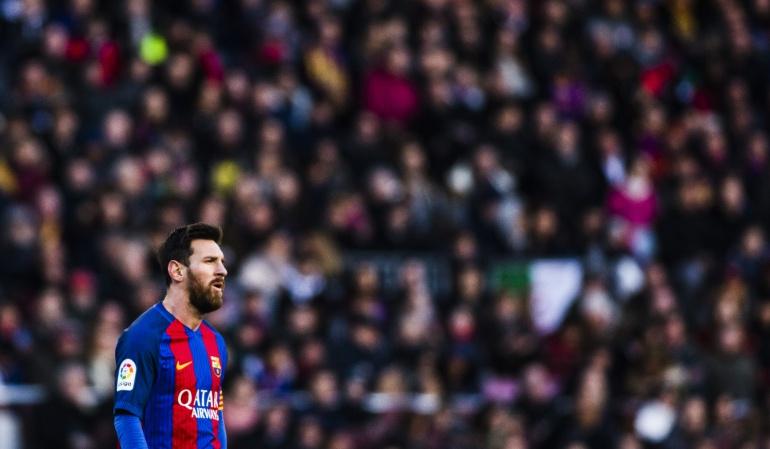 El argentino Lionel Messi en un encuentro frente a Las Palmas.