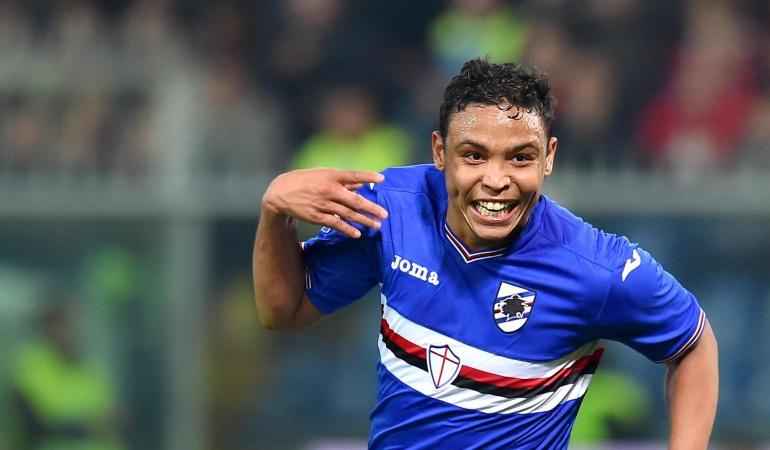 Luis Fernando Muriel: Muriel anota para el triunfo de la Sampdoria ante Genoa