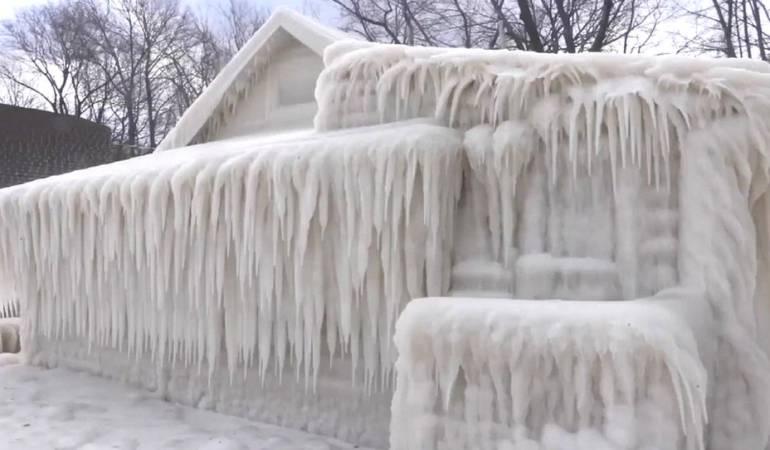 El norte del estado de Nueva York ha sido golpeado por una oleada de frío y viento.