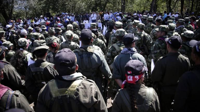 Guerrilleros de las Farc en zona veredal