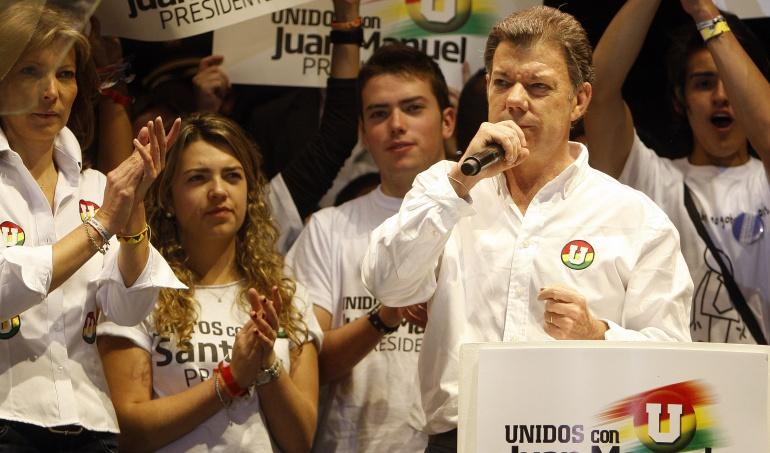 Juan Manuel Santos, en la campaña presidencial del 2010