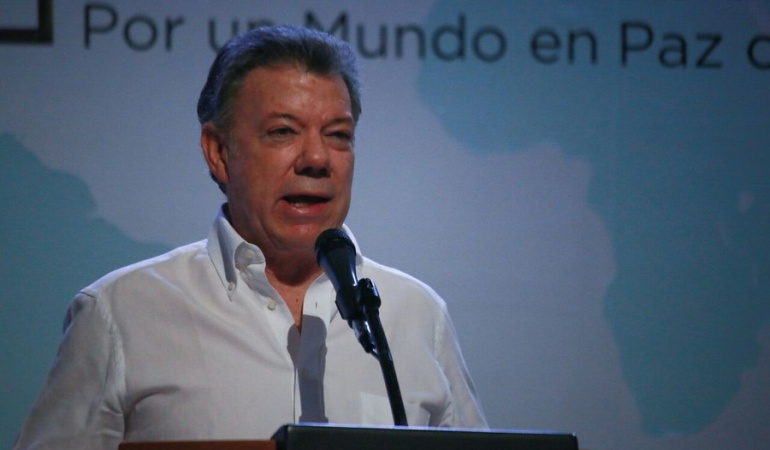 Juan Manuel Santos, presidente de la República de Colombia