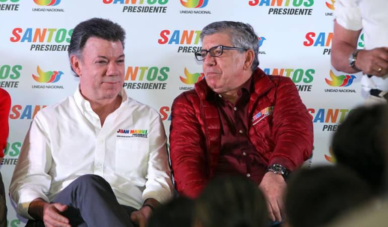 Presidente Santos y expresidente Gaviria