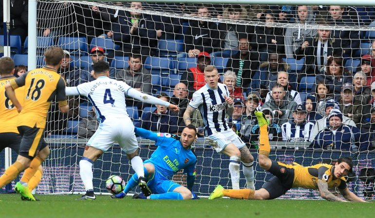 David Ospina Arsenal: West Brom 3-1 Arsenal: Ospina no pudo evitar la derrota de su equipo