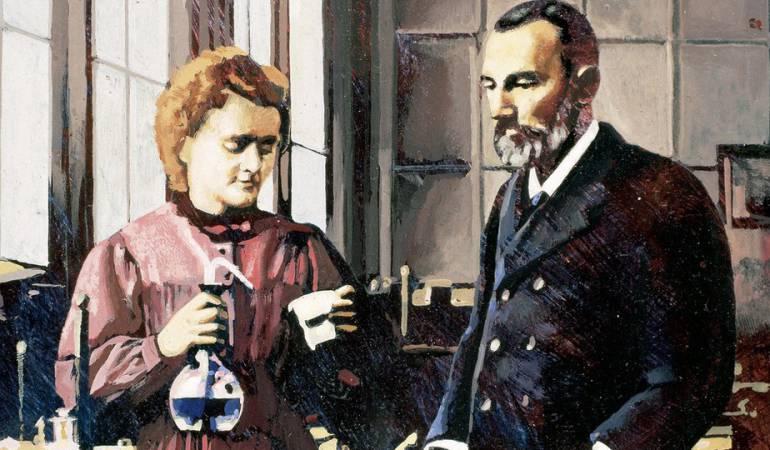 Madame Curie había quedado viuda en 1906.