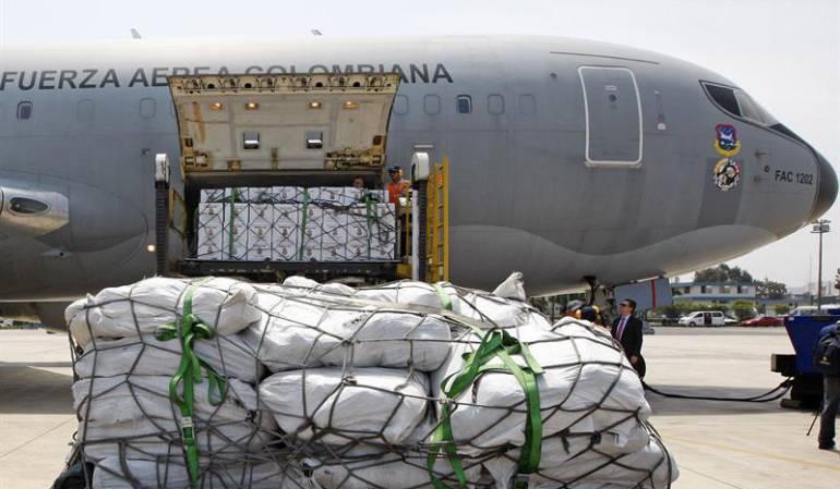Ayudas de parte de Colombia hacia Perú