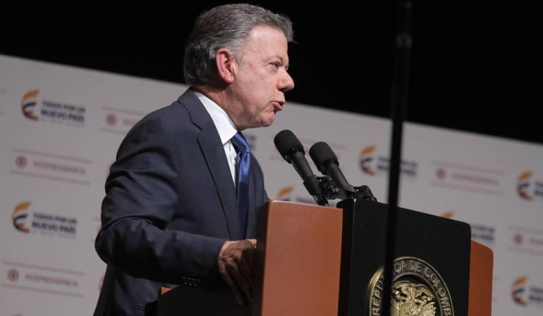 Presidente de Colombia Juan Manuel Santos.