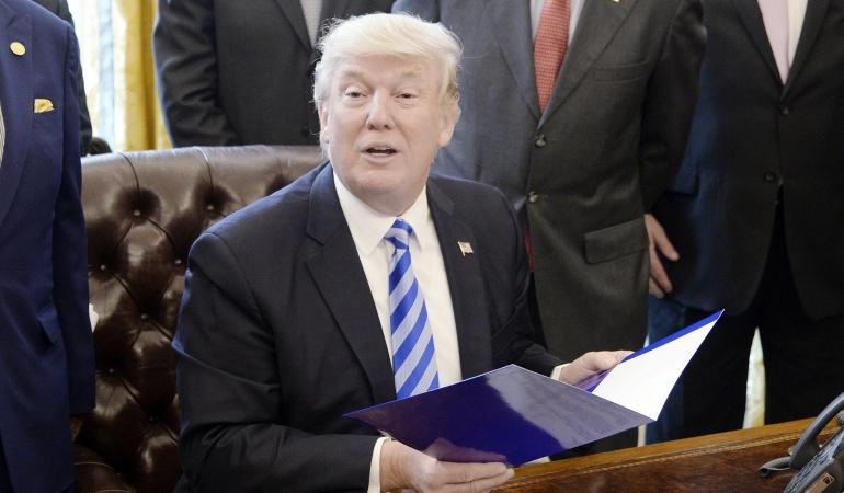 El presidente estadounidense, Donald J. Trump
