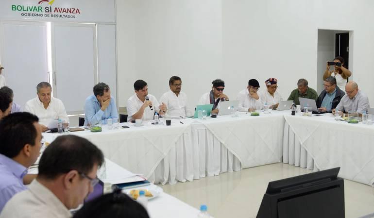 Reunión Gobierno y Farc: Gobierno y Farc evaluaron en Cartagena avances del desarme