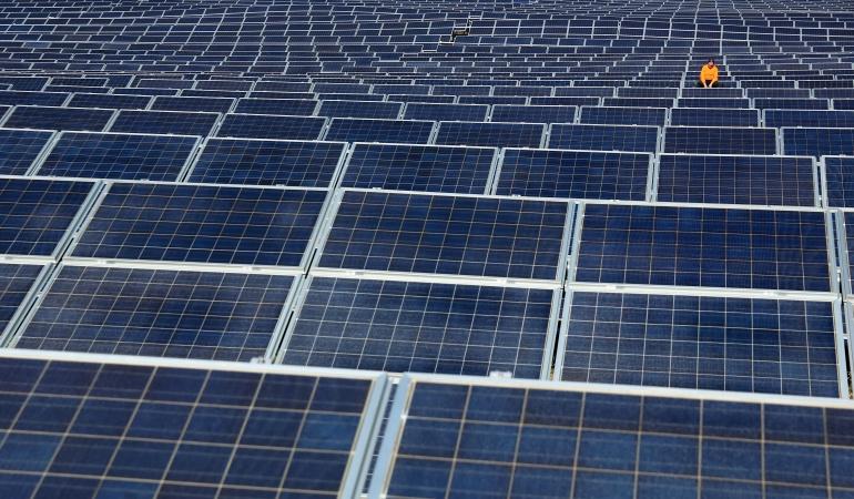 Ejemplo de paneles solares.
