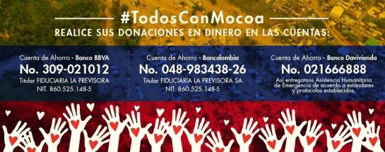 Avalancha en Mocoa: Donaciones para los afectados por la avalancha en Mocoa superan los $ 1.841 millones