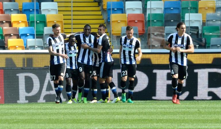 Duván Zapata anotó en el triunfo de Udinese 3-0
