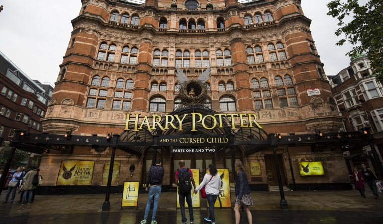 """Una vista general del """"Palace Theatre"""", lugar donde se presenta """"Harry Potter y El Legado Maldito"""""""