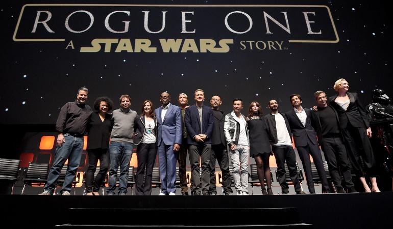 El elenco de la cinta Rogue One: A Star Wars Story.