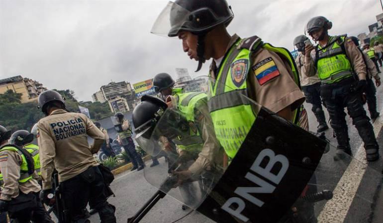 Integrantes de la Policía Nacional Bolivariana