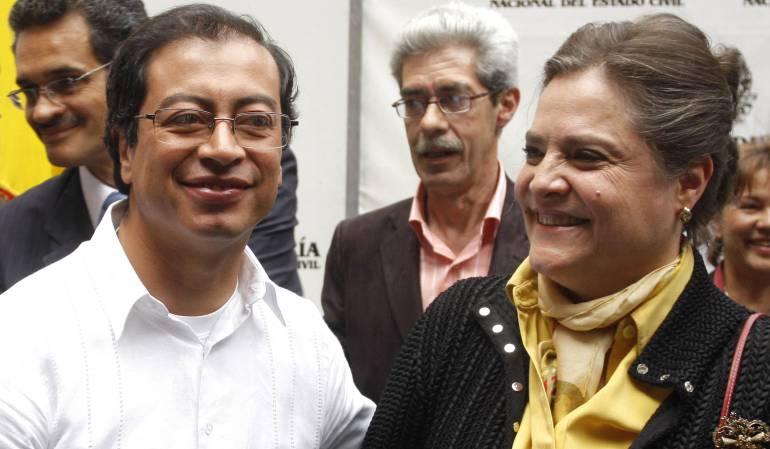 Gustavo Petro y Clara López.