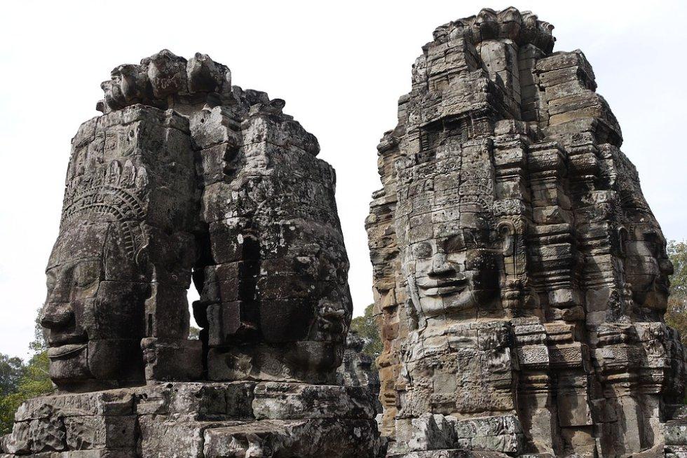 Siem Reap, Camboya: puede encontrar las estructuras antiguas dentro de uno de los mayores complejos religiosos en el mundo.