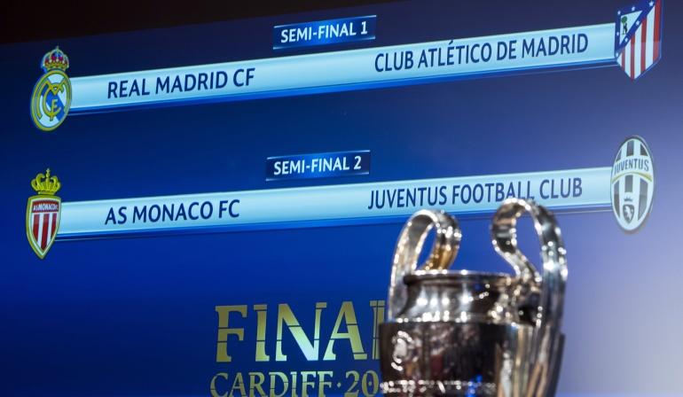 Sorteo Champions League semifinales: Enfrentamiento colombiano y clásico madrileño en Champions