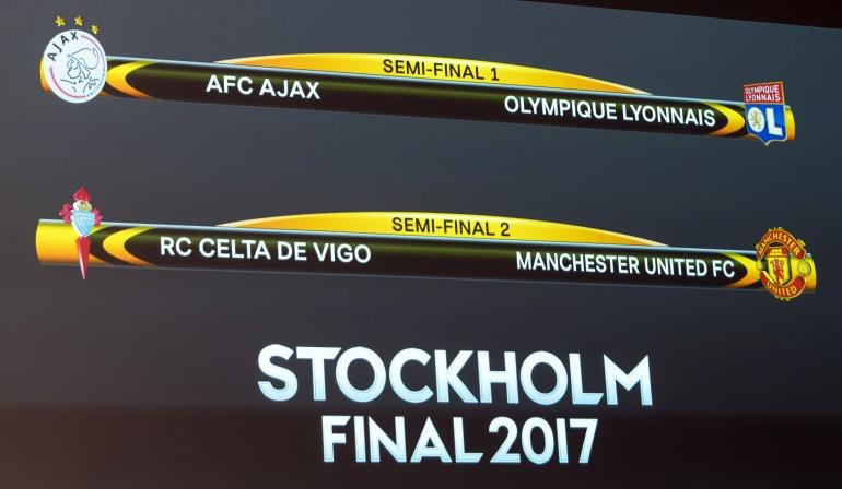 Así se jugarán las semifinales de Europa League