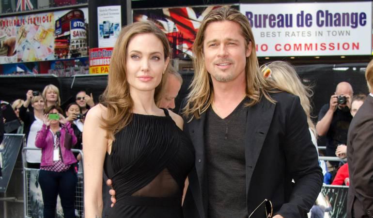 Angelina y Brad Pitt.