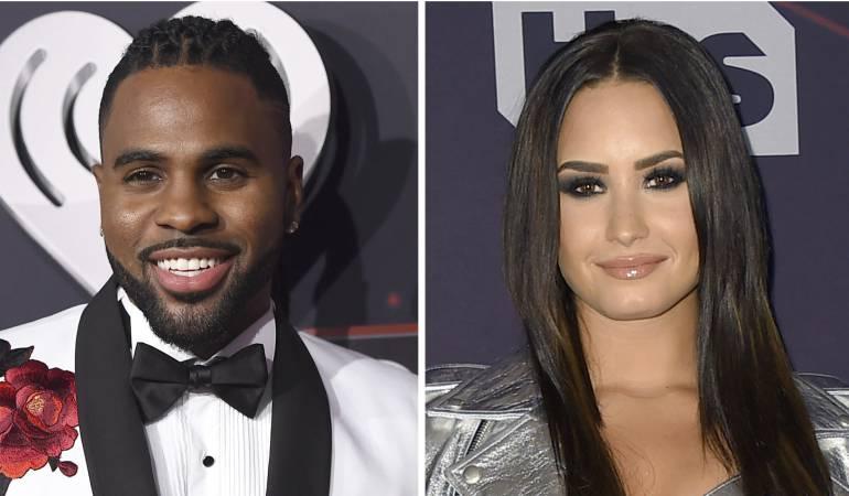 Jason Derulo y Demi Lovato en la Premiación de iHeartRadio Music Awards el 5 de marzo de 2017 en Inglewood, California.