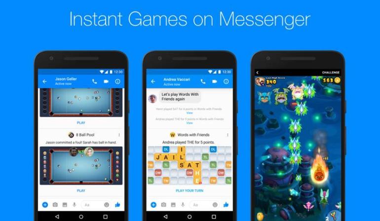 'Instant Games' es la nueva iniciativa de Messenger para atraer más público.