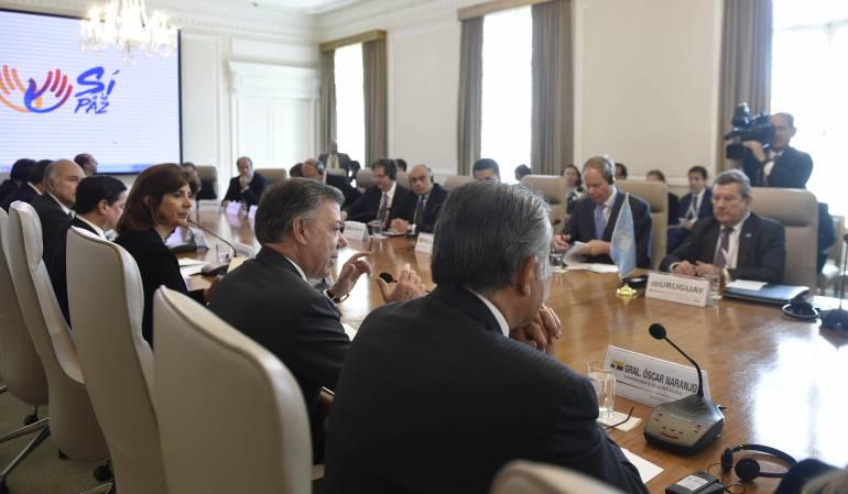Reunión Consejo Seguridad de la ONU y Juan Manuel Santos