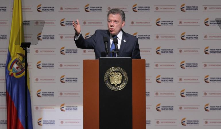 """Posconflicto: Quienes fueron a hacer lobby contra el proceso de paz """"quedaron viendo un chispero"""": Santos"""