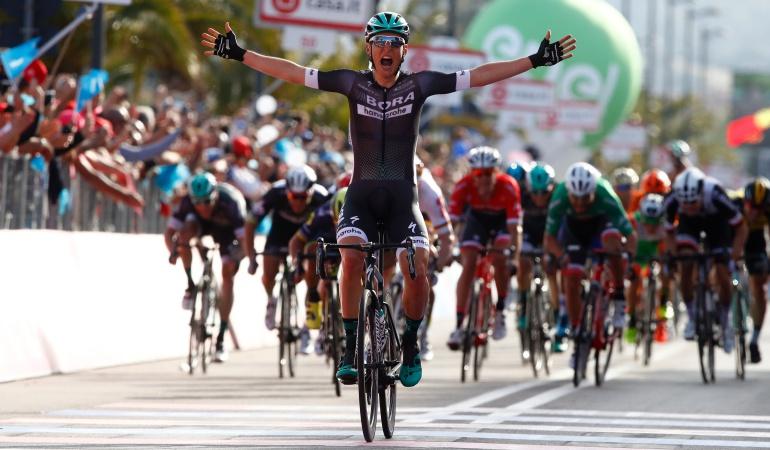 Etapa 1 Giro de Italia: Lukas Polstberger, ganador de la primera etapa del Giro Centenario