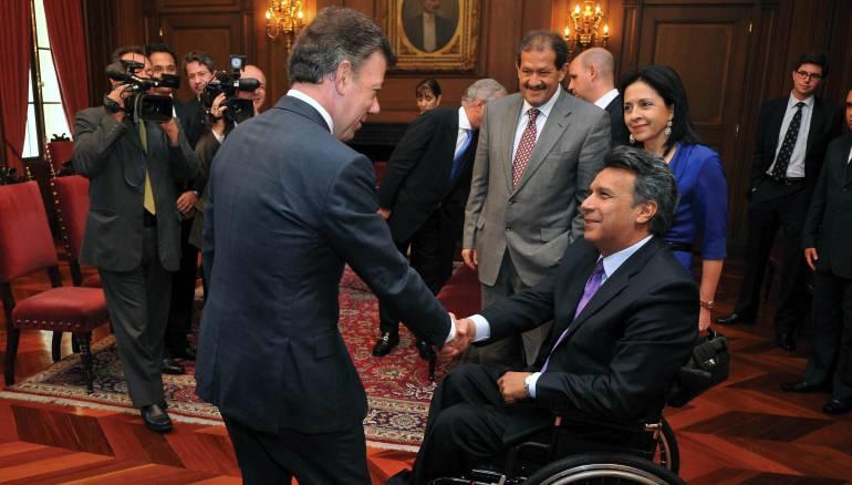 Apoya Presidente electo de Ecuador la paz de Colombia