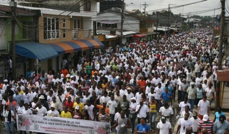 Paro Chocó: Chocó ratifica llamado a paro cívico