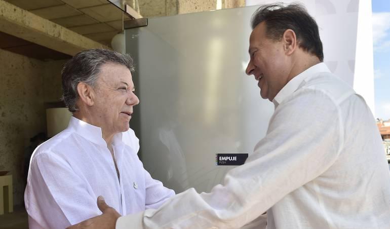 Presidentes de Panamá y Colombia