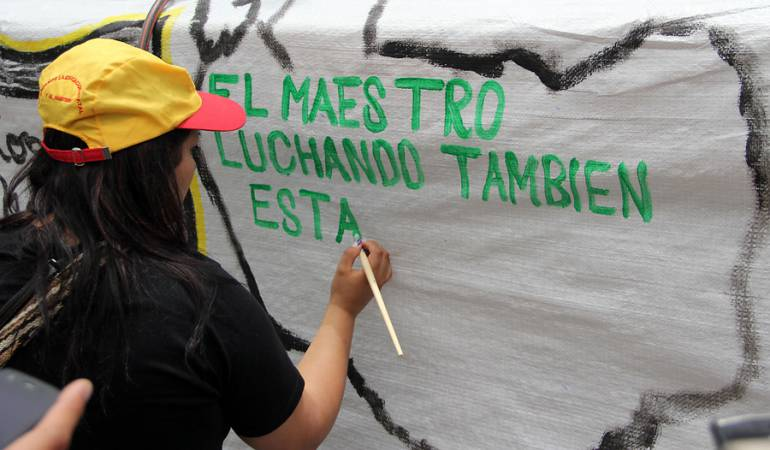 Protestas de profesores