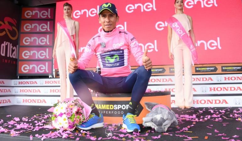 Nairo Quintana líder Giro de Italia: ¡Extraordi - Nairo!: Etapa y maglia rosa para Quintana