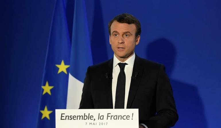 Emmanuel Macron asumió como presidente de Francia
