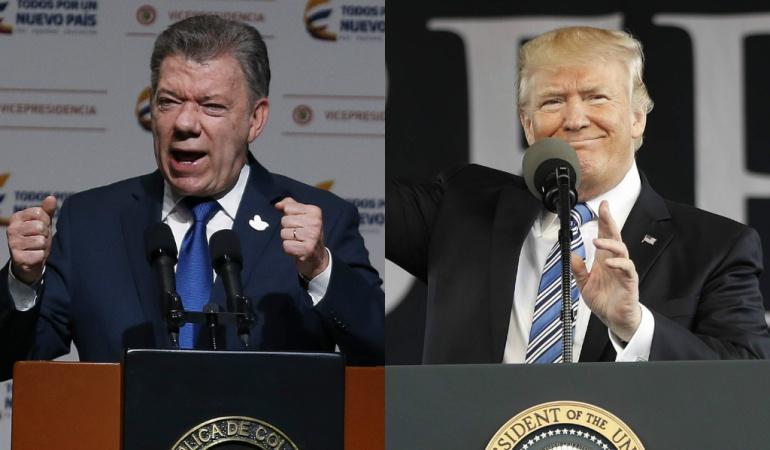 Trump se reúne con Santos: Trataré sobre la triste situación de Venezuela