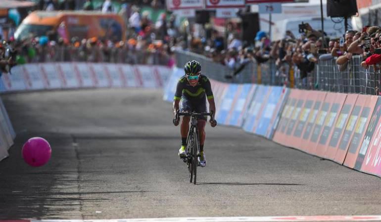 Nairo Quintana en el Giro de Italia 2017