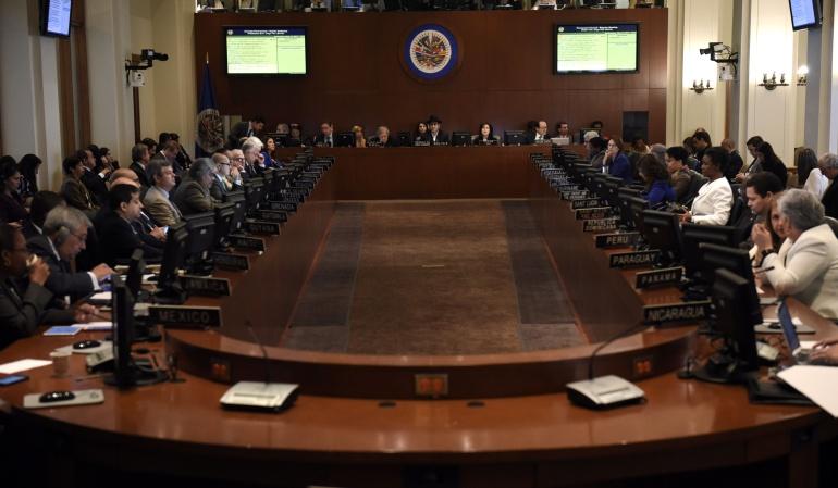 VENEZUELA CRISIS OEA: OEA convoca reunión de cancilleres sobre Venezuela para el 31 de mayo