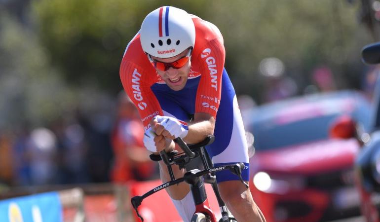 Dumoulin contrarreloj Giro Italia: Dumoulin vuela en la contrarreloj y le arrebata el primer lugar a Nairo Quintana