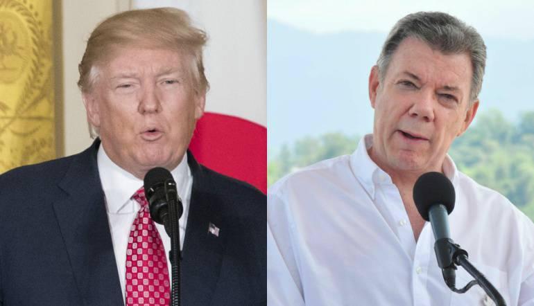 Inicia en la Casa Blanca primera reunión entre Trump y Santos